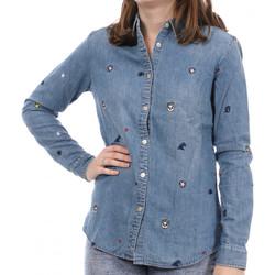 Kleidung Damen Langarmshirts Scotch & Soda 134816-17 Blau