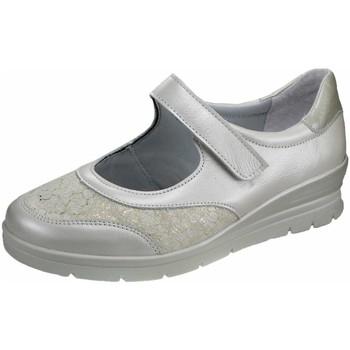 Schuhe Damen Ballerinas Aco Slipper off-white-cremefarben 863/9305 Luna 15 cream 290 weiß