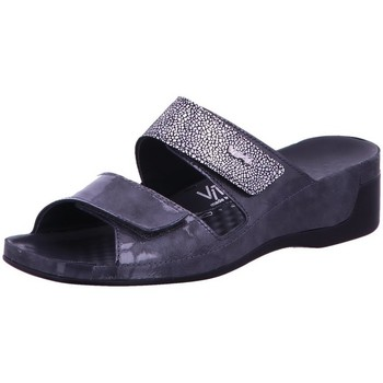 Schuhe Damen Pantoffel Vital Pantoletten 0890-3119-9504 grau