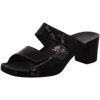Schuhe Damen Pantoffel Vital Pantoletten 0520-23-99 schwarz