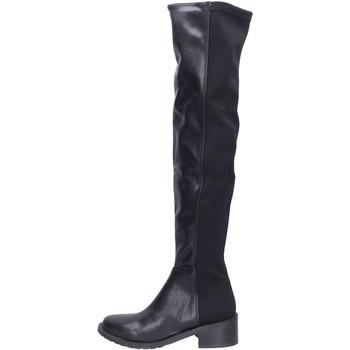 Schuhe Damen Kniestiefel Olga Rubini BH523 Schwarz