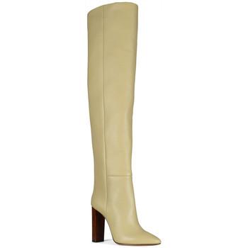 Schuhe Damen Klassische Stiefel Saint Laurent  Beige
