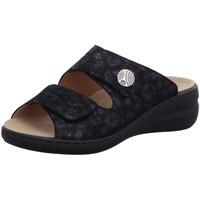 Schuhe Damen Pantoffel Solidus Pantoletten Spezial 21104-80243 blau