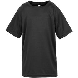 Kleidung Jungen T-Shirts Spiro S287J Schwarz