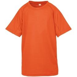 Kleidung Jungen T-Shirts Spiro S287J Neonorange