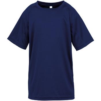 Kleidung Kinder T-Shirts Spiro SR287B Marineblau