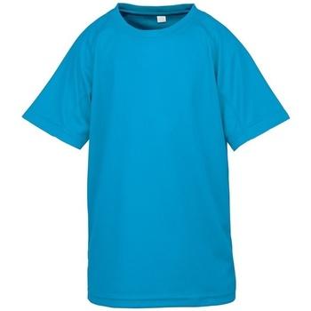 Kleidung Kinder T-Shirts Spiro SR287B Wasserblau