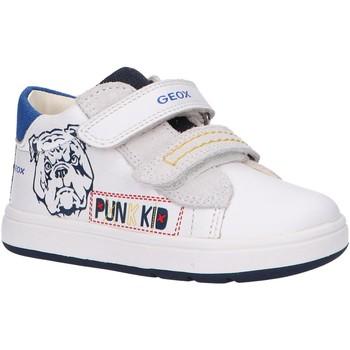 Schuhe Jungen Multisportschuhe Geox B044DD 08520 B BIGLIA Blanco