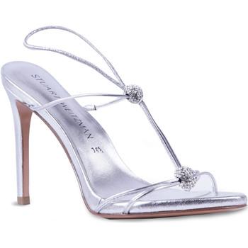 Schuhe Damen Sandalen / Sandaletten Stuart Weitzman VL09249 argento