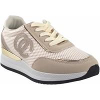 Schuhe Damen Sneaker Low Bienve abx028 beige Weiss