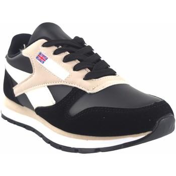 Schuhe Damen Sneaker Low Bienve Damenschuh  abx080 schwarz Rose