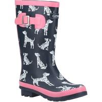 Schuhe Mädchen Gummistiefel Cotswold  Marineblau/Pink