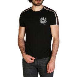 Kleidung Herren T-Shirts Aquascutum - qmt017m0 Schwarz