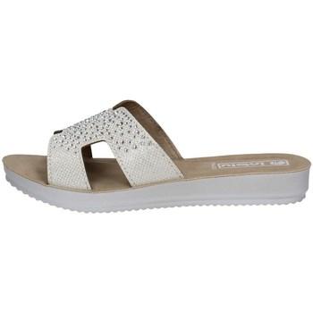 Schuhe Damen Pantoffel Inblu BM 49 Weiss