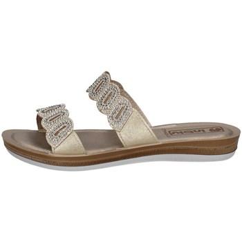 Schuhe Damen Pantoffel Inblu BA 37 Silbern