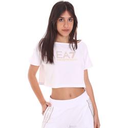 Kleidung Damen T-Shirts Ea7 Emporio Armani 3KTT03 TJ28Z Weiß