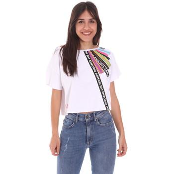 Kleidung Damen T-Shirts Ea7 Emporio Armani 3KTT40 TJ39Z Weiß