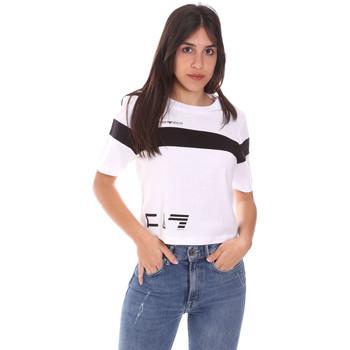 Kleidung Damen T-Shirts Ea7 Emporio Armani 3KTT05 TJ9ZZ Weiß