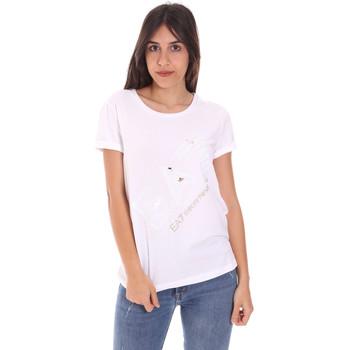 Kleidung Damen T-Shirts Ea7 Emporio Armani 3KTT28 TJ12Z Weiß