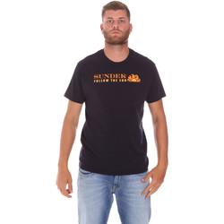 Kleidung Herren T-Shirts Sundek M049TEJ7800 Schwarz