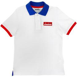 Kleidung Kinder Polohemden Diadora 102175907 Weiß