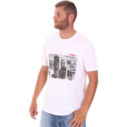 Kleidung Herren T-Shirts Diadora 102175861 Weiß