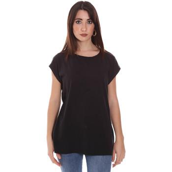 Kleidung Damen T-Shirts Lumberjack CW60343 011EU Schwarz