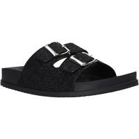Schuhe Damen Pantoffel Keys K-4830 Schwarz