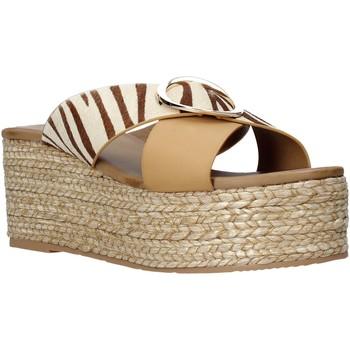 Schuhe Damen Pantoffel Gold&gold A21 GK98 Beige