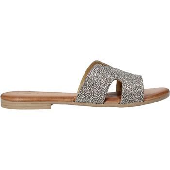 Schuhe Damen Pantoffel Dorea MH103 Grau