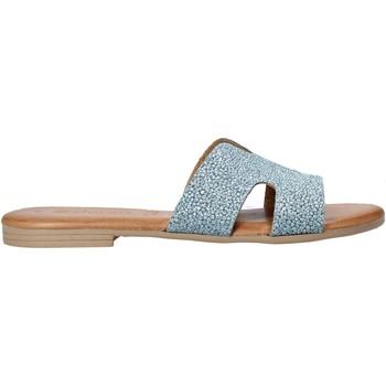 Schuhe Damen Pantoffel Dorea MH103 Blau