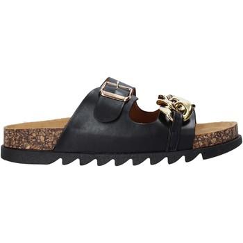 Schuhe Damen Pantoffel Gold&gold A21 FL160 Schwarz