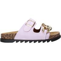 Schuhe Damen Pantoffel Gold&gold A21 FL160 Violett