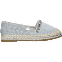 Schuhe Mädchen Leinen-Pantoletten mit gefloch Miss Sixty S20-SMS705 Grau