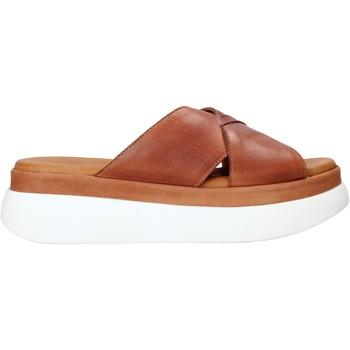 Schuhe Damen Pantoffel Sshady L2206 Braun