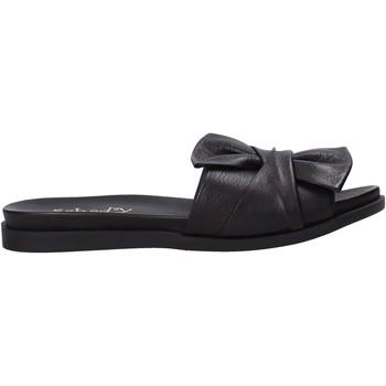 Schuhe Damen Pantoffel Sshady MRT231 Schwarz