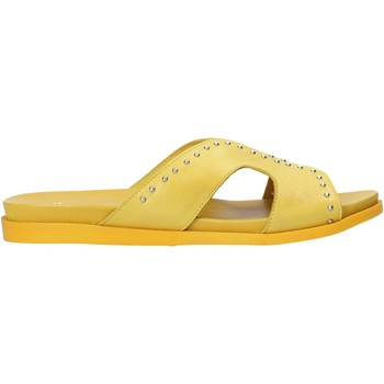 Schuhe Damen Pantoffel Sshady MRT233 Gelb