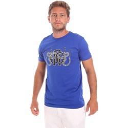 Kleidung Herren T-Shirts Roberto Cavalli HST66B Blau