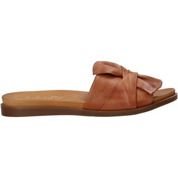 Schuhe Damen Pantoffel Sshady MRT231 Braun