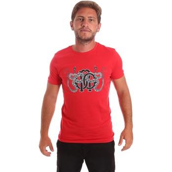 Kleidung Herren T-Shirts Roberto Cavalli HST66B Rot