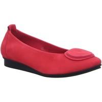 Schuhe Damen Ballerinas Arche Slipper Ninaro Ninaro Nubuck Lotus rot