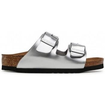 Schuhe Kinder Pantoffel Birkenstock Arizona Kids BF Silber