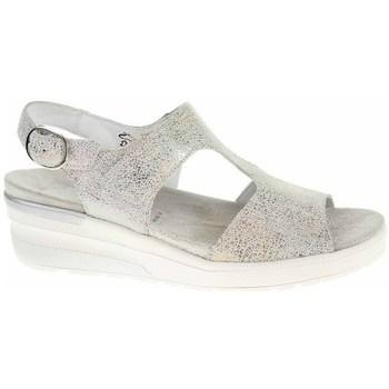 Schuhe Damen Sandalen / Sandaletten Waldläufer 702003126299 Creme