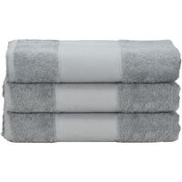 Home Handtuch und Waschlappen A&r Towels 50 cm x 100 cm Anthrazite Grau