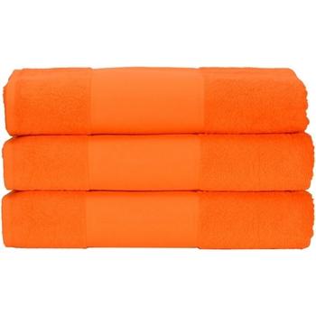 Home Handtuch und Waschlappen A&r Towels 50 cm x 100 cm Hell Orange