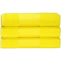 Home Handtuch und Waschlappen A&r Towels 50 cm x 100 cm Hell Gelb