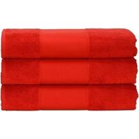Home Handtuch und Waschlappen A&r Towels 50 cm x 100 cm Feuerrot