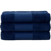Home Handtuch und Waschlappen A&r Towels 50 cm x 100 cm Marineblau