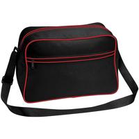 Taschen Jungen Umhängetaschen Bagbase BG14 Schwarz/Rot