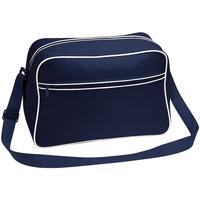 Taschen Jungen Umhängetaschen Bagbase BG14 Dunkelblau/Weiß